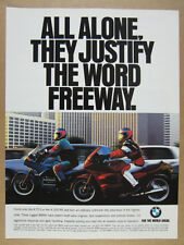 1994 BMW K75S & K1100RS Motorcycles color photo vintage print Ad