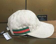 Neuf blanc GUCCI Hat, Hommes/Femmes, Toile Casquette De Baseball, Réglable, taille M