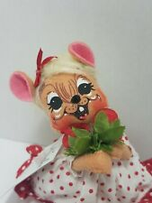 """Annalee Figure 2011 Sweetheart Girl Mouse  Valentines 6"""" Doll Roses Long Dress"""