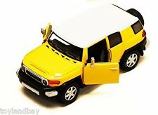 Toyota FJ Cruiser SUV Sports Utility Vehicle 1:36 Scale Diecast Model Yellow NEW
