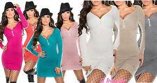 glamour pullover lungo con strass centrale 7 colori taglia unica