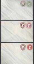 Uk Gb 1889 Three Queen Victoria Postal Covers H&G Kb 111 Kb 118 Kb 119 Mint