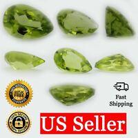 Loose Pear Shape Cut Genuine Natural Peridot Stone Single Green Birthstone