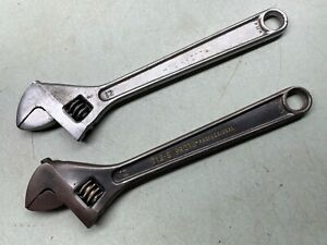 """PROTO Tools Adjustable Wrench Lot 12""""  (712 & 712-S) Made in USA"""