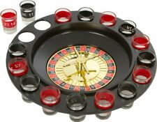 Casino Shot Roulette Spinning Drinking Game Set for House Party (Set of 16)