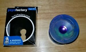 YoYoFactory Wedge PC Yoyo in Galaxy With Purple Hub In Excellent Condition