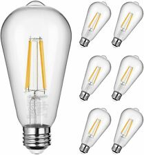 DEWENWILS 6 Pack Vintage LED Edison Bulbs Dimmable Light Bulbs ST64 LED Filament