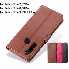 For Redmi Note 9 Pro 8 Pro 7 Wallet Case Card Slot Stand Magnetic Leather Cover