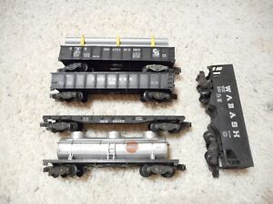 S SCALE AMERICAN FLYER FIVE KNUCKLE COUPLER CAR GROUP