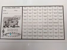 4.99 NEW   20   Fundraising Football Charity  Scratch Cards 80 Team FREEPOST