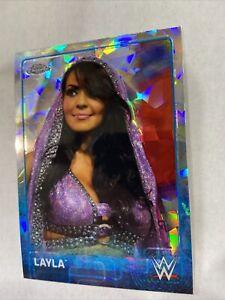 WWF WWE 2015 Topps Chrome Atomic Refractor Parallel Card Kane Layla Hot Diva