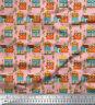 Soimoi Stoff Baumhaus architektonisch Meterware bedrucken - AT-517H