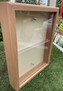 Display Cabinet Unit Wall Mounted Collectors Unit Wooden