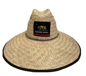Men's Summer Hat Straw Sun Lifeguard Beach pescador Hat Wide Brim, One size