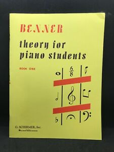 BENNER Theory for Piano Students Book 1 #2511