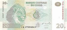 Congo D. R. 20 Francs   30.6.2003  P 94a Uncirculated Banknote , G. WM2