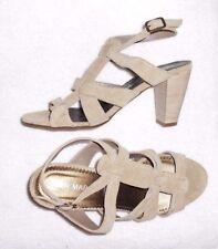 SAN MARINA modèle CELIUS sandales cuir daim beige  P 40 = 39 neuves