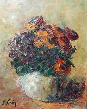 'Tableau Bouquet Fleurs Impressionniste Suzanne SARDIN*** Référencée**Flowers