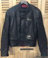Furygan Taille 52 ou L Veste Cuir Blouson de Moto Motard Vintage 1980 Noir