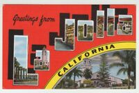 [68977] OLD LARGE LETTER POSTCARD GREETINGS from LA JOLLA, CALIFORNIA