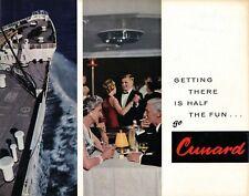"Cunard ""Getting There is Half the Fun"" Brochure 1960s- NAUTIQUES sHiPs WORLDWIDE"