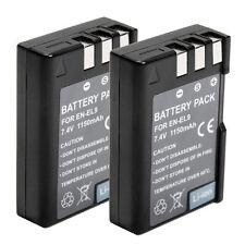 2x Battery Pack For Nikon EN-EL9 D40 D40x D60 D3X D3000 D5000 Li-ion