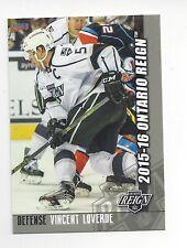 2015-16 Ontario Reign (AHL) Vincent Loverde (Toronto Marlies)