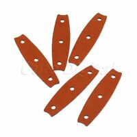 5/10/20pcs Brown Slingshot Catapult Pouches Microfiber Leather& Center Holes