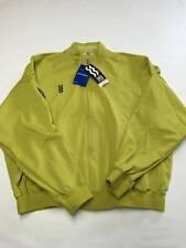 Mens MIZUNO SUPER STAR Green Zip Up Track Jacket Sz 125-6(XL) NEW NWT