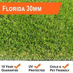 FLORIDA 30MM ARTIFICIAL GRASS FAKE GARDEN LAWN EASY FIT QUALITY REALISTIC GRASS