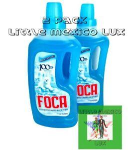 2X) FOCA Liquido Detergente De Ropa GRANDE