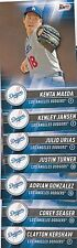 LOS ANGELES DODGERS 2017 Topps Bunt TEAM SET  (7 Physical Card