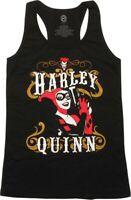 D.C. Comics Juniors Harley Quinn Gun Pose Racerback Tank Top Shirt NWT S, M