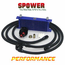 Universal 15Row AN10 Engine Oil Cooler +3/4*16&M20 Filter Relocation Adapter Kit
