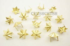 50pcs 15mm Gold Star JEWISH Hexagon Stud Spot Spikes Spots Nailheads DIY S052