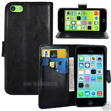 Funda protectora rebatible tipo billetera de cuero para la protección de cuerpo completo-iPhone 5C