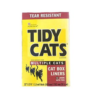 Tidy Cats Litter Box Liners Heavy Duty Tear Resistant 4 Liner