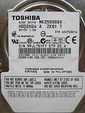 250 GB Toshiba mk2555gsx/99jlt51ft et9 ec. a | hdd2h24 a zk01 T DISCOTECA RIGIDO