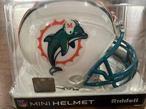 Miami Dolphins Riddell NFL Football Mini Helmet ~ New In Package ~ 2010