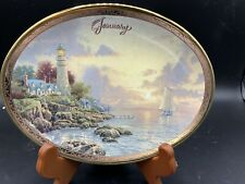 "Thomas Kinkade's Shores of Inspiration collectible ceramic plate "" January�"