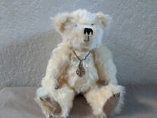 Dean'S Rag Book Bear, White With Necklace Le