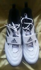 Adidas Gridiron Mid Md Football Cleats #383374 - White/Black -Size 15- New
