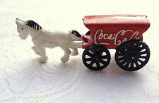 Coca Cola Cast Iron White Horse and Red Wagon (206)