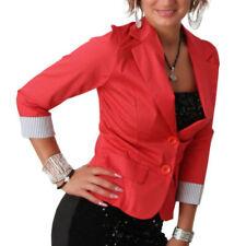 Cappotti e giacche da donna rossi business con bottone