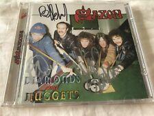 Saxon - Diamonds And Nuggets CD Import Austria Bonus Tracks SIGNED OOP RARE