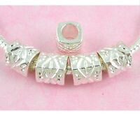 30pcs Silver Plated Tone Charms Beads Big Hole Fit European Charm Bracelet SY15