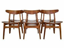 Six Teak + Oak Dining Chairs by Hans Wegner for Carl Hansen Mid Century Danish