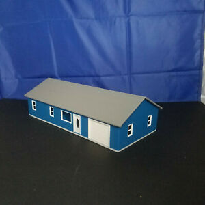1:64 S Scale Ranch House with interior, windows, 3D Printed