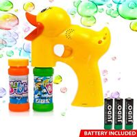 Duck Bubble Shooter Gun Toy for Kids with Sound & Music - Battery Operated Toys
