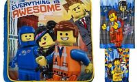 NEW THE LEGO MOVIE EVERYTHING IS AWESOME PLUSH BLANKET THROW DECORATIVE PILLOW